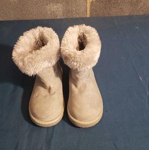 Disney Frozen Girls Size 7 Fabric Gray Boots